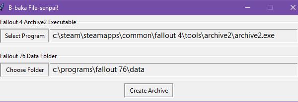 Baka File Tool - Установщик модов для Fallout 76