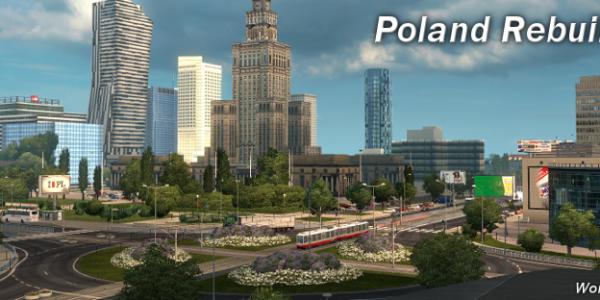 Euro Truck Simulator 2: карта Poland Rebuilding Reworked