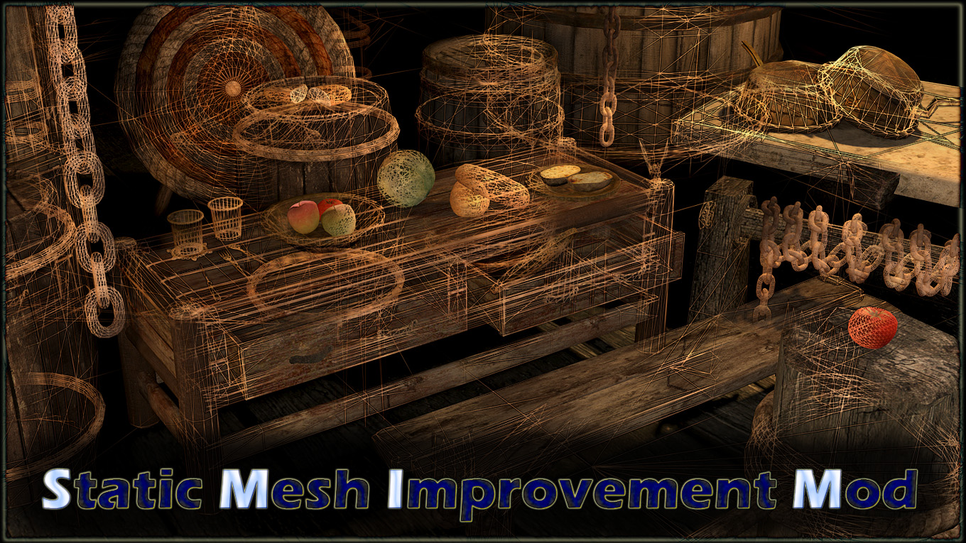 Skyrim: мод Static Mesh Improvement Mod - SMIM