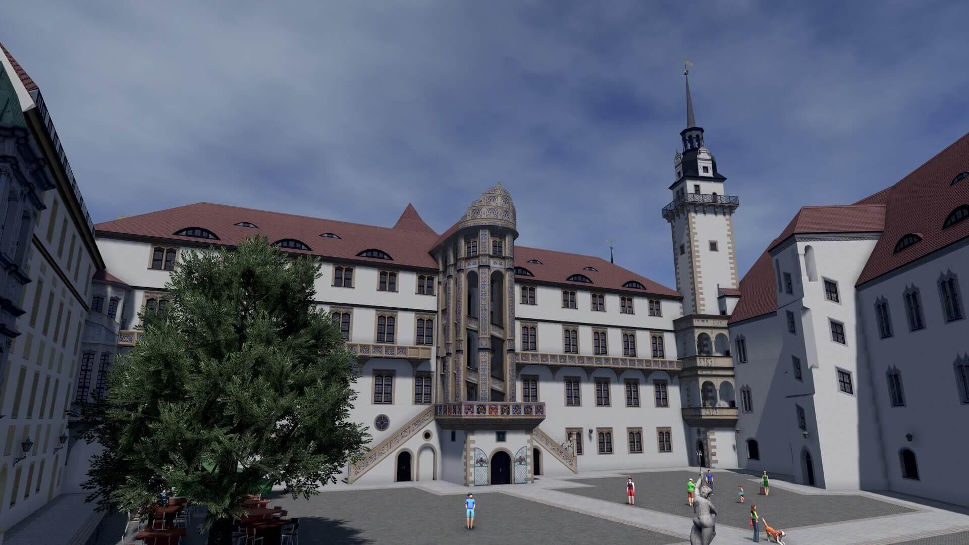 Cities: Skylines - мод на немецкий Замок Хартенфельс, Торгау