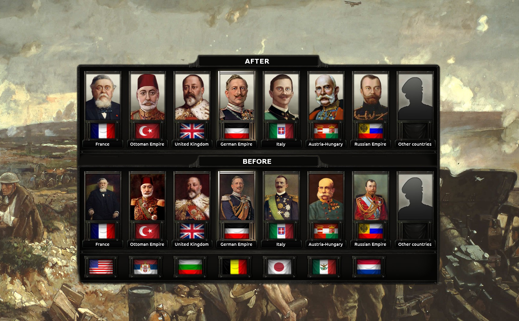 Hearts of Iron 4: мод на портреты для мода The Great War (The Great War GFX)