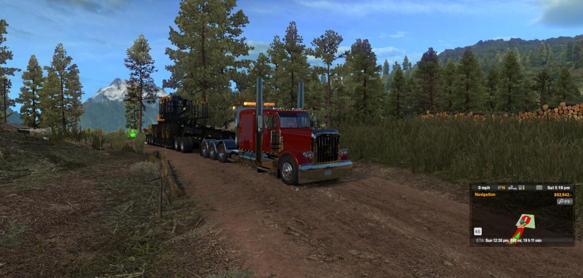 American Truck Simulator: мод на Расширение карты Монтаны (Montana Expansion)