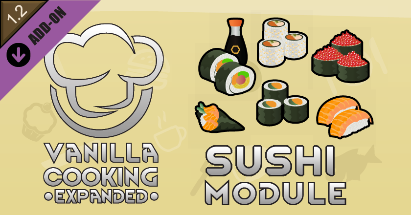 Vanilla Cooking Expanded - Sushi