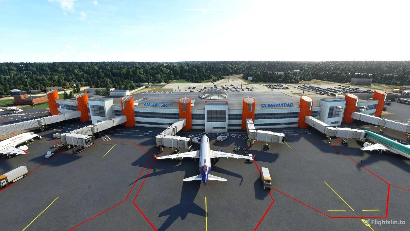 Мод Сценарий на аэропорт Храброво - Калиниград (UMKK) (UMKK - Khrabrovo Airport - Kalinigrad)