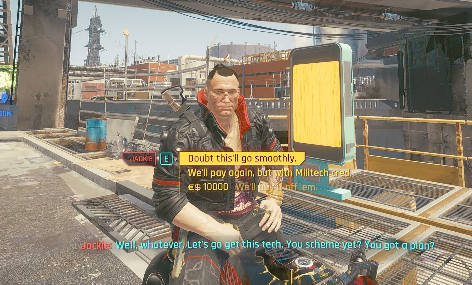 E to Interact – V to Walk and Drive – Dedicated Dodge – Dialogue Scroll [Cyberpunk 2077]
